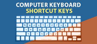कम्प्यूटर कीवोर्ड की शोर्टकट कीज  | Shortcut Keys of computer in hindi|