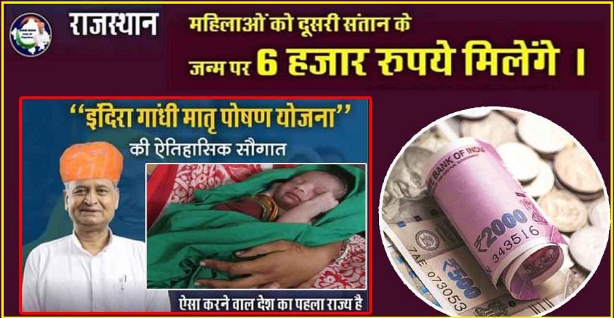 Rajasthan Indira Gandhi Matritva Poshan Scheme