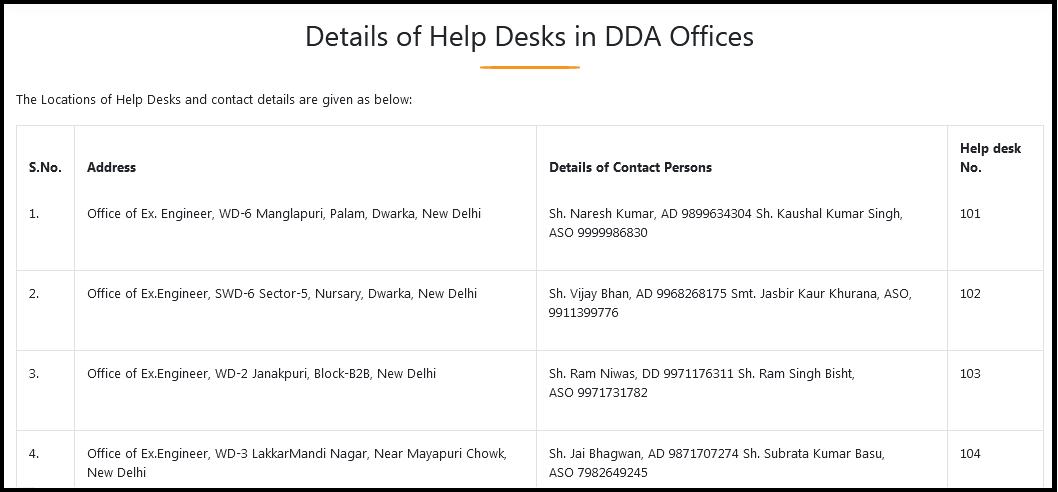 DDA PM uday contact
