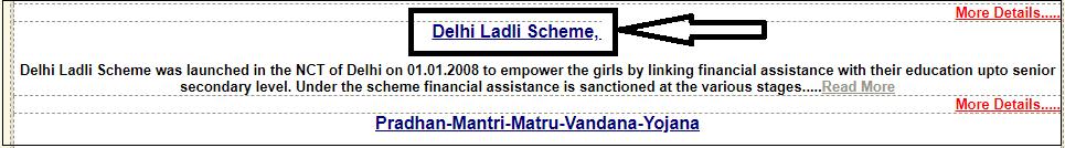 ladli scheme online