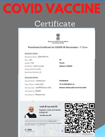 Vaccine Certificate COVID