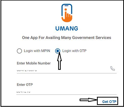 umang app sign in