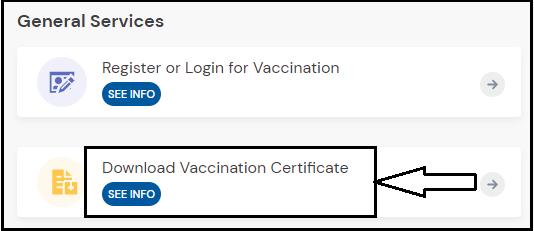 umang app covid certificate