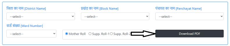 बिहार वोटर लिस्ट Final Roll PDF Format